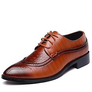 povoljno Muške oksfordice-Muškarci Formalne cipele Koža Proljeće / Jesen Uglađeni Oksfordice Hodanje Crn / Braon / Crvena / Vjenčanje / Zabava i večer / Kombinacija materijala / Zabava i večer / Fashion Boots