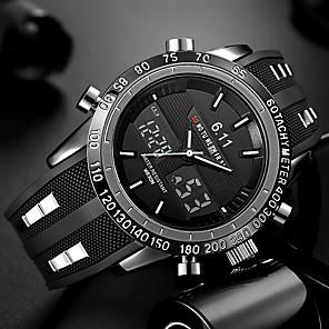 ieftine Ceasuri Smart2-Bărbați Ceas de Mână Ceas digital Silicon Negru Rezistent la Apă Calendar Creative Analog - Digital Charm Lux Clasic Casual Modă - Negru Rosu Albastru Doi ani Durată de Viaţă Baterie