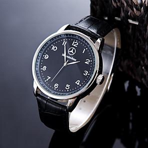 ieftine Senzori-Bărbați Ceas Sport Ceas de Mână Quartz Piele Negru / Maro Rezistent la Apă Creative Analog Charm Clasic Casual Modă Elegant - Alb Negru Un an Durată de Viaţă Baterie / Oțel inoxidabil