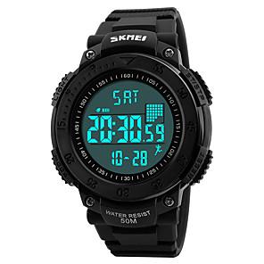 ieftine Brățări-SKMEI Bărbați Ceas Sport Ceas Militar  Ceas de Mână Quartz Modă Rezistent la Apă Piele PU Matlasată Negru Piloane de Menținut Carnea - Negru Rosu Albastru / Japoneză / Alarmă / Calendar / Luminos
