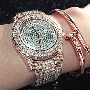 ieftine Inel Ceas-Pentru femei Ceas Casual Ceas Sport Ceas La Modă Quartz Charm Rezistent la Apă Analog Roz auriu Auriu Argintiu / Oțel inoxidabil / Oțel inoxidabil / imitație de diamant