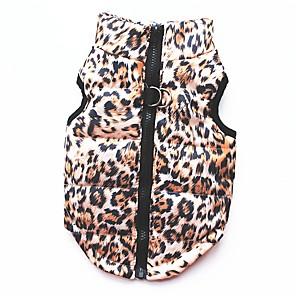 povoljno Odjeća za psa i dodaci-Mačka Pas Kaputi T-majica Sportska majica Zima Odjeća za psa Leopard Kostim Pamuk Leopard Zabava Ležerno / za svaki dan Ugrijati XS S M L