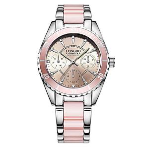 ieftine Ceasuri Brățară-Pentru femei Ceas Brățară Ceas de Mână Quartz femei Rezistent la Apă Oțel inoxidabil Ceramică Alb / Pink Analog - Alb Roz Doi ani Durată de Viaţă Baterie