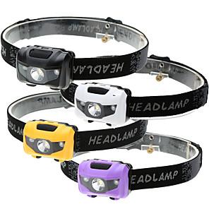 povoljno Ženski satovi-Svjetiljke za glavu Vodootporno 500 lm LED LED emiteri 4.0 rasvjeta mode Vodootporno 3 načina LED svjetlo Jednostavan za nošenje Hitan Super Light Kampiranje / planinarenje / Speleologija Uporaba