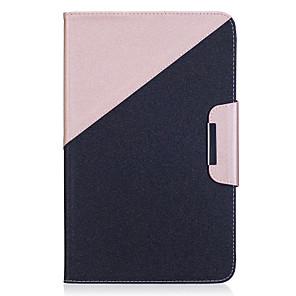 olcso USB pendrive-ok-Case Kompatibilitás Samsung Galaxy / Tab 9,7 Tab E 9.6 / Tab A 10.1 (2016) Pénztárca / Kártyatartó / Állvánnyal Héjtok Egyszínű Kemény PU bőr
