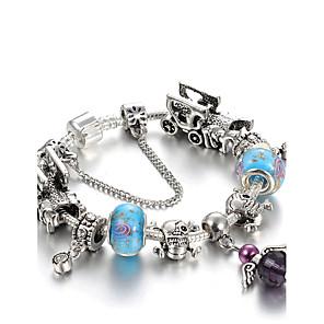 ieftine Spoturi LED-Pentru femei Cristal Brățări cu Talismane Brățări cu Mărgele Prieteni Inimă Floare Lux Natură Modă Cristal Bijuterii brățară Mov / Verde / Rosu Pentru Cadouri de Crăciun Nuntă Petrecere Petrecere