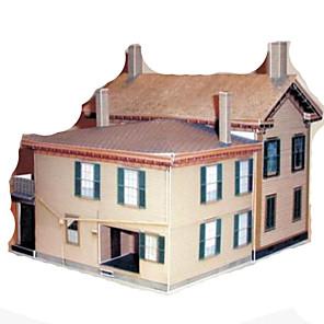 ieftine Carcase / Huse Galaxy J Series-Puzzle 3D Lucru Manual Din Hârtie Clădire celebru Casă Reparații Hârtie Rigidă pentru Felicitări Pentru copii Unisex Băieți Jucarii Cadou