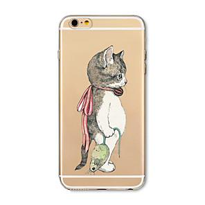 ieftine Frontale-Maska Pentru Apple iPhone X / iPhone 8 Plus / iPhone 8 Transparent / Model Capac Spate Pisica / Animal Moale TPU