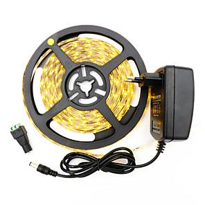 ieftine Benzi Lumină LED-hkv® 2835 300leds 8mm alb cald rece alb alb flexibil led luminos bara de vacanță petrecere de Crăciun interior bandă led cu bandă 2a alimentare