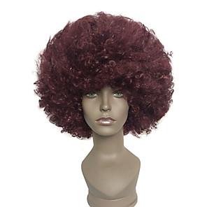 ieftine Ustensile & Gadget-uri de Copt-Peruci Sintetice Peruci de Costum afro Kinky Curly Kinky Curly afro Perucă Scurt Negru / Vin închis Păr Sintetic Pentru femei Roșu