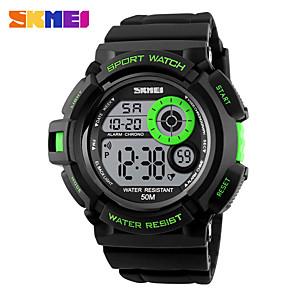 ieftine Ceasuri Digitale-SKMEI Bărbați Ceas Sport Ceas de Mână Ceas digital Digital Charm Piloane de Menținut Carnea Auriu Negru Galben / Piele PU Matlasată