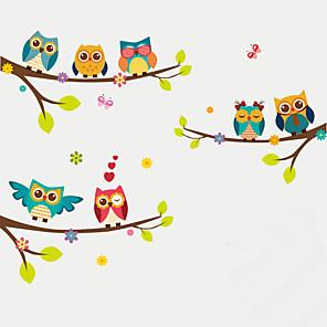 ieftine Acțibilde de Decorațiuni-Animale / Modă / Botanic Perete Postituri Animal Stickers de perete Autocolante de Perete Decorative, Plastic Pagina de decorare de perete Decal Perete Decor 1set