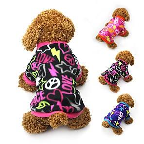 ieftine Câini Articole şi Îngrijire-Pisici Câine Haine Tricou Hanorca Iarnă Îmbrăcăminte Câini Negru Fucsia Albastru Costume Lână polară Inimă Petrecere Casul / Zilnic Keep Warm XS S M L