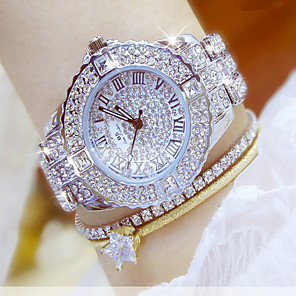 ieftine Cuarț ceasuri-Pentru femei Ceas De Lux Ceas de Mână Diamond Watch femei Rezistent la Apă Oțel inoxidabil Argint / Auriu Analog - Auriu Argintiu Ceas de aur cu brățări de 4 buc Un an Durată de Viaţă Baterie