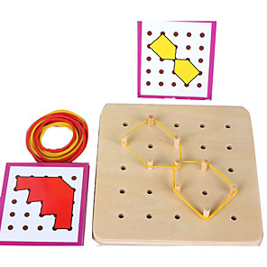 cheap Stacking Blocks-Montessori Teaching Tool Building Blocks Jigsaw Puzzle Pegged Puzzles Educational Toy Square Education Kid's Toy Gift