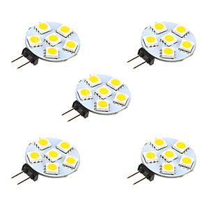 ieftine Becuri LED Bi-pin-5pcs 1 W Becuri LED Bi-pin 68 lm G4 6 LED-uri de margele SMD 5050 Alb Cald Alb 12 V / 5 bc