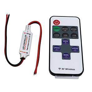 お買い得  LED 部品-hkv®ワイヤレスミニledコントローラdimmer 11key rfリモートコントロールfor単色ledストリップライトdc 5-24v