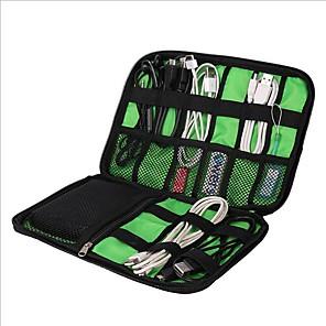 hesapli Seyahat Çantaları-1pc Seyahat Acentası Seyahat Bagaj Organizatörü Su geçirmez Kılıf Büyük Kapasite Taşınabilir Seyahat Depolama için Çamaşırlar USB Kablosu Cep Telefonu Naylon 22.6*15.7*3.6 cm Seyahat / Dayanıklı