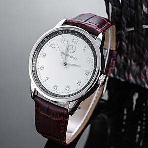 ieftine Ceasuri Curele din Piele-Bărbați Ceas Sport Ceas de Mână Quartz Charm Rezistent la Apă Piele Negru / Maro Analog - Alb Negru Un an Durată de Viaţă Baterie / Oțel inoxidabil