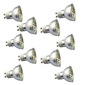 ieftine Spoturi LED-10pcs 3 W Spoturi LED 350 lm GU10 29 LED-uri de margele SMD 5050 Decorativ Alb Cald Alb Rece 220 V / 10 bc