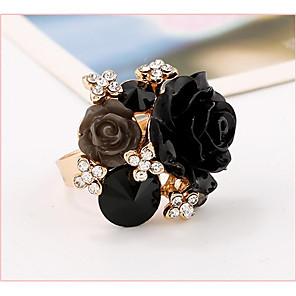 ieftine Mănuși & Mănuși 1 deget-Pentru femei manşetă Ring Negru Alb Mov Reșină Perle Roz Geometric Shape femei Nuntă Petrecere Bijuterii Floare