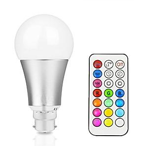 ieftine Baze de Lampe-1 buc 12 W Bulbi LED Inteligenți 800 lm B22 E26 / E27 A60(A19) 1 LED-uri de margele LED Integrat Intensitate Luminoasă Reglabilă Telecomandă Decorativ RGBW RGBWW 85-265 V / 1 bc / RoHs