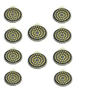 ieftine LED-uri-10pcs 3 W Spoturi LED 500 lm GU10 48 LED-uri de margele SMD 2835 Decorativ Alb Cald Alb Rece 12 V / 10 bc