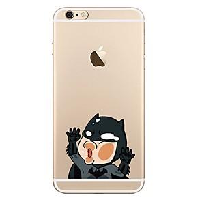 povoljno iPhone maske-Θήκη Za Apple iPhone X / iPhone 8 Plus / iPhone 8 Prozirno / Uzorak Stražnja maska Crtani film Mekano TPU