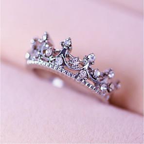 ieftine Colier la Modă-Pentru femei Inel Prințesă coroană inel Roz auriu Argintiu Aliaj femei Personalizat Nuntă Petrecere Bijuterii Coroane