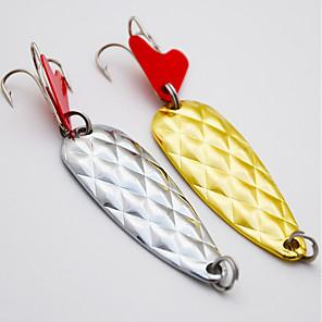 ieftine Momeală Pescuit-2 pcs Momeală metalică Linguri Δόλωμα Linguri Pachete momeală Momeală metalică Scufundare Scufundare Rapidă Bass Păstrăv Ştiucă Pescuit mare Filare Pescuit Biban Aliaj Metalic / Momeală pescuit