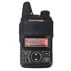 ieftine Walkie Talkies-baofeng intercom t1 mini handield bidirecțional walkie talkies 400-470mhz software programabil funcție de economisire a energiei 20 canale de memorie 5km-10km cu căști portabile negre