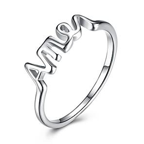 ieftine Spoturi LED-Pentru femei Band Ring Argintiu Plastic Lux Clasic stil minimalist Nuntă Petrecere Bijuterii Αριθμοί Iubire