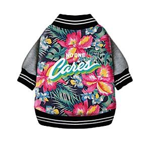ieftine Imbracaminte & Accesorii Căței-Câine Costume Îmbrăcăminte Câini Floral / Botanic Albastru Bumbac Costume Pentru Primăvara & toamnă Iarnă Bărbați Pentru femei Cosplay