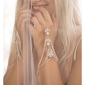 ieftine Brățări-Pentru femei Ring Bracelets Picătură Sclavii de aur femei Personalizat Boem Modă Bling bling Ștras Bijuterii brățară Auriu / Argintiu Pentru Nuntă Cadou Zilnic Stradă
