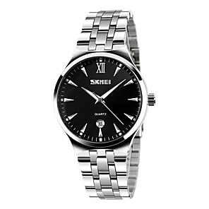 ieftine Ceasuri Bărbați-SKMEI Bărbați Ceas de Mână Quartz Oțel inoxidabil Argint 30 m Ceas Casual Analog Charm Modă Ceas simplu - Negru Albastru Roz auriu Doi ani Durată de Viaţă Baterie / Maxell626 + 2025