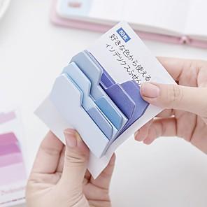 ieftine Papetărie-1 gradient de culori gradient note de auto-stick 100 pagini (culoare aleatoare)