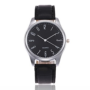 ieftine Accesorii Ceasuri-Bărbați Ceas de Mână Quartz Casual Analog Alb / Bej Negru Negru / Maro / Piele