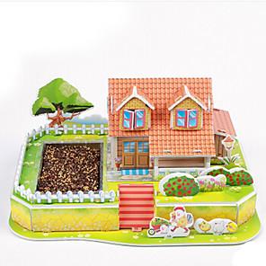 ieftine Fâșii Becurie LED-Puzzle 3D Puzzle Jucarii Clădire celebru Casă Arhitectură 3D Reparații Hârtie Pentru copii Bucăți
