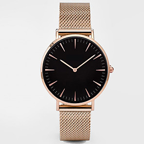ieftine Cuarț ceasuri-Pentru femei Ceas Sport Ceas Elegant Ceas de Mână Quartz femei Rezistent la Apă Negru / Argint / Auriu Analog - Negru+Auriu Alb+Auriu Negru / Roz auriu Un an Durată de Viaţă Baterie / Oțel inoxidabil