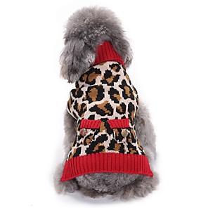ieftine Cabluri Ethernet-Pisici Câine Haine Pulovere Crăciun Iarnă Îmbrăcăminte Câini Leopard Costume Spandex Amestec de Bumbac / In Leopard Petrecere Cosplay Casul / Zilnic XXS XS S M L XL