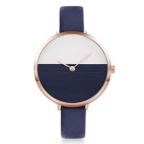 ieftine Cuarț ceasuri-Pentru femei Ceas de Mână Charm Creative Piele Negru / Alb / Albastru Analog - Alb Negru Rosu / Oțel inoxidabil