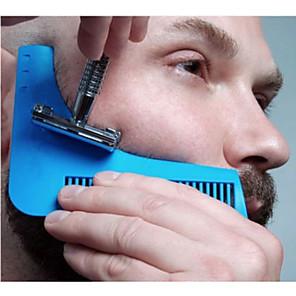 abordables Gadgets de Baño-peine que forma la plantilla del modelo peine de la barba peine todo junto de la herramienta para la plantilla del ajuste de la barba del pelo