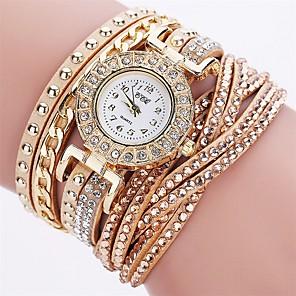 ieftine Cuarț ceasuri-Pentru femei Ceas Brățară Quartz femei imitație de diamant Piele PU Matlasată Negru / Alb / Roșu Analog - Alb Negru Mov Un an Durată de Viaţă Baterie / SSUO LR626