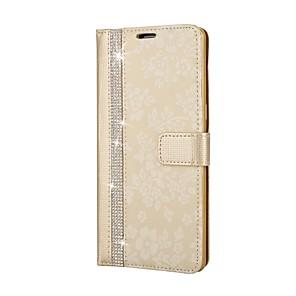 Недорогие Чехлы и кейсы для Galaxy Note 4-Кейс для Назначение SSamsung Galaxy Note 8 Кошелек / Стразы / со стендом Чехол Цветы Твердый Кожа PU