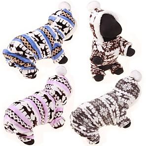 povoljno Maske/futrole za J seriju-Pas Puloveri Hoodies Jumpsuits Zima Odjeća za psa Plava Pink Sive boje Kostim Pamuk Jelen Ležerno / za svaki dan Slatka Style S M L XL XXL