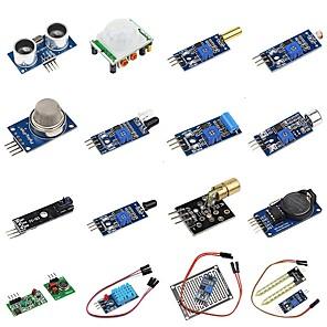 ieftine Benzi Lumină LED-DIY Kit de senzori 16 in 1 pentru zmeura pi