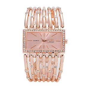 ieftine Cuarț ceasuri-Pentru femei Ceasuri de lux Ceas de Mână ceas de aur Quartz Argint / Auriu / Roz auriu Ceas Casual Cool Analog femei Lux Casual Modă Elegant - Auriu Argintiu Roz auriu Un an Durată de Viaţă Baterie