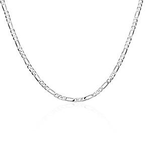 levne Náhrdelníky-Pánské Dámské Řetízky Geometrické Měď Postříbřené Stříbrná Náhrdelníky Šperky Pro Denní Práce
