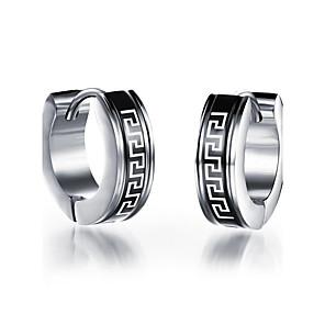 ieftine Cercei-Bărbați Cercei Stud Rock Modă Oțel titan cercei Bijuterii Argintiu Pentru Zilnic Casual