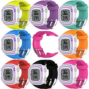 Недорогие Часы и ремешки Garmin-Ремешок для часов для Forerunner 10 Garmin Спортивный ремешок Pезина Повязка на запястье